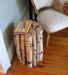 Handmade logs furniture and decorative accessories are beautiful items for home decorating. Logs are eco friendly material for creative crafts and diy inexpensive home decorating in eco style also. Lo