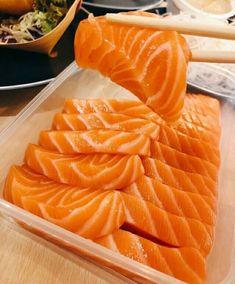 [I Ate] Salmon Sashimi today. Think Food, I Love Food, Good Food, Yummy Food, Salmon Sashimi, Food Porn, Fast Food, Food Goals, Food Is Fuel