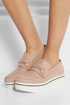 Stella McCartneyFaux suede platform loafers