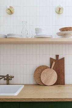 Kitchen Tile Backsplash Makeover Toronto: No Retiling; New Kitchen, Kitchen Decor, Kitchen Wood, Scandinavian Kitchen Backsplash, Modern Kitchen Backsplash, Boho Kitchen, Kitchen Taps, Fireclay Tile, Subway Tile Kitchen