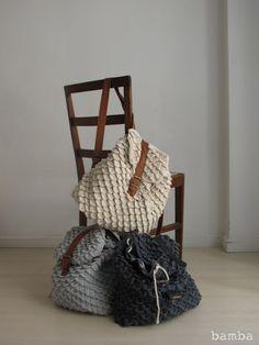 Mochillas trapillo - Crochet Backpack