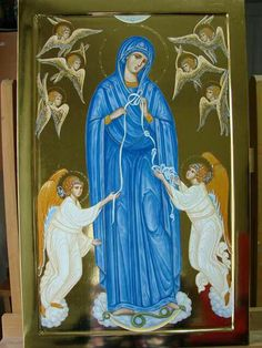 Blessed Mother Mary, Virgin Mary, Madonna, Catholic, Wallpaper, Princess Zelda, Angels, Painting, Fictional Characters