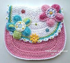 PATTERN  flower handbag  crochet pattern purse door CrochetfromYvett