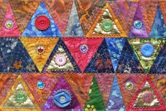 Frieda Oxenham: Klimtesque 2 Journal Quilt