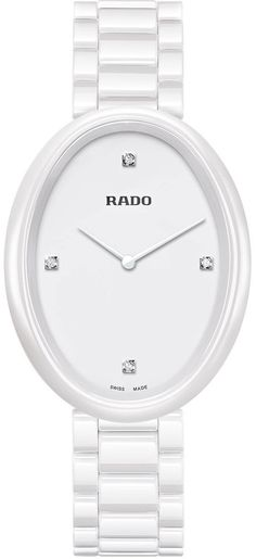 Rado Watch Esenza Touch L #bezel-fixed #bracelet-strap-ceramic #brand-rado #case-material-ceramic #case-width-33mm #delivery-timescale-call-us #dial-colour-white #gender-ladies #luxury #movement-quartz-battery #official-stockist-for-rado-watches #packaging-rado-watch-packaging #style-dress #subcat-esenza-touch #supplier-model-no-r53092712 #warranty-rado-official-2-year-guarantee #water-resistant-30m