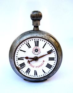 Attention Watchmakers Amateur Collectors Vintage Pocket Watch ROSKOPF Wille Freres Open Face Steel 57mm 1920c Not Working
