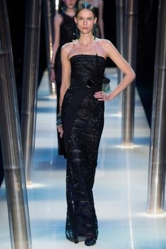 The Armani Prive Couture Spring '15 collection conveyed delicacy and strength.