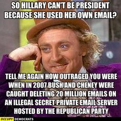 Just google Bush Cheney email scandal There were so many scandals, it's hard to remember them all.