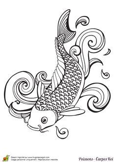Coloriage poisson carpe koi coloriage sur hugolescargot for Poisson carpe koi