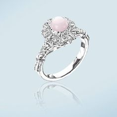 Sterling silver ring with pink opal. #handmade #handcrafted #opalring #sterlingsilverjewellery #sterlingsilver #dunkowski #madeinpoland #like #engravedring #forsale #handmadering #forher #recznierobione #showmeyourring