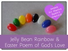Create a jelly bean packet that will share God's Love! link to FREE printable poem included