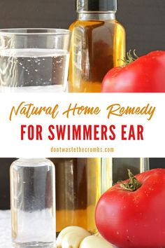 Holistic Remedies, Natural Home Remedies, Herbal Remedies, Swimmers Ear Home Remedy, Ear Pain In Kids, Ear Pain Remedies, Diy Hair Gel, Ear Drops