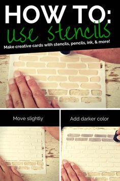 How to make creative cards with stencils, pencils, inks, and more | Paper Crafts & Scrapbooking magazine | card making, paper crafting