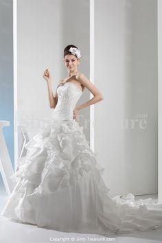 White Lace Hourglass Square Chapel Train Outdoor/ Garden Princess Wedding Dress