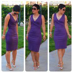 Very pretty purple and the style is nice.