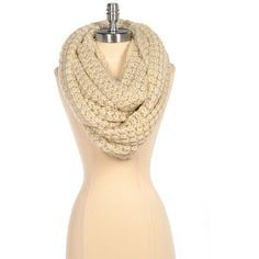 Paula Bianco Chunky Infinity Scarf in Beige ($84) ❤ liked on Polyvore featuring accessories, scarves, accessories scarves & wraps, beige, tube scarf, round scarf, tube scarves, chunky circle scarf and paula bianco scarves
