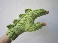 These dragon,dinosaur,monster fingerless gloves from HotScones etsy seller.