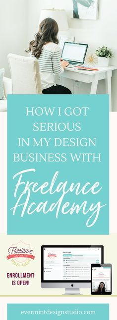 How I Got Serious in How I Got Serious in My Design Business with Freelance Academy - Click through to learn more about Elle & Co's flagship course and my experience with Freelance Academy: where you learn how to take your graphic and web design business full-time and the processes and strategies to get you there! >> Click here to read more at EverMint Design Studio blogging tips for beginners blogging tips and tricks wordpress blogging tips lifestyle blogging tips blogging tips ideas…