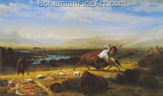 Albert Bierstadt, The Last of the Buffalo Fine Art Reproduction Oil Painting