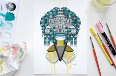 Mit dem Ausmalbuch der französischen Street-Artistin und Illustratorin Koralie, entworfen für das Kind im Erwachsenen, lässt es sich farbenfroh entspannen.