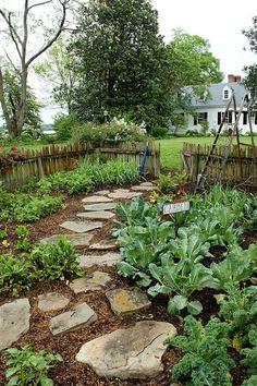 Vegetable Garden pathway by KarlGercens.com, via Flickr by Queena Z