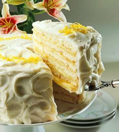 Doberge Cake- From New Orleans, this cake is a sinfully rich tall confection constructed of many thin layers of moist cake separated by creamy lemon custard