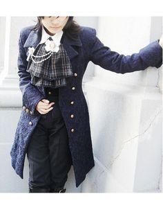 Black Woolen Cloth Lolita Coat and Corset Lolita Coats & Jackets at ftcmalls.com - Ftcmalls.com