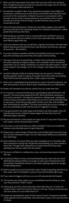 Psychological Life Hacks - posted by UselessKnowledge at Useless Knowledge