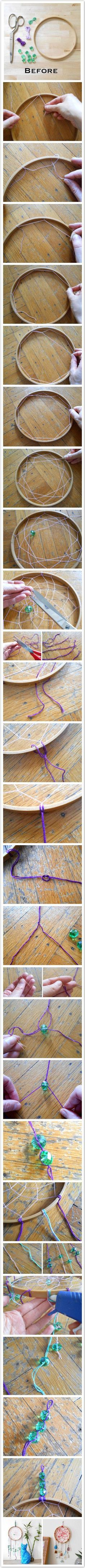 DIY dream-catcher photo tutorial