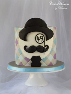 Moustache Birthday Cake