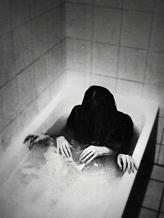 """Go Away Bad Dreams"" - Photography by Philomena Famulok. Very creepy. Horror Photography, Dream Photography, Creepy Art, Scary, Creepy Horror, Silvia Grav, Bad Dreams, Sweet Dreams, Monochrom"