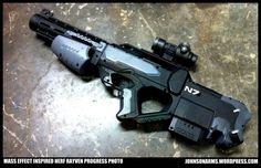 Dewalt assault Nail Gun Unique Mass Effect Inspired Nerf Rayven by Johnsonarms On