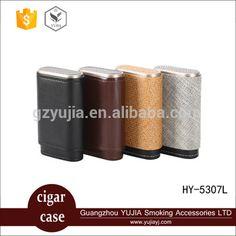 wholesale leather and carbon fiber cigar case travel portable cigarette case