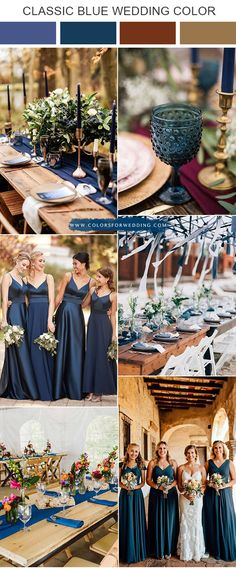 rustic classic blue and brown wedding color ideas wedding colors Pantone Color of the Year 12 Classic Blue Wedding Color Ideas Burgundy Wedding Colors, Winter Wedding Colors, Wedding Colours, Wedding Color Pallet, Wedding Color Schemes, Popular Wedding Colors, Wedding Trends, Wedding Ideas, Wedding Inspiration