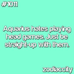 Yes I hate head games...