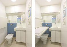 Pediatric clinic in Brasilia - Bathroom with a diaper changer.