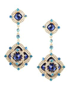 Jewelry Diamond : Delight in the ultra-feminine romance of these extravagant earrings which come