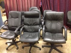 Used Chairs, Eames, Recliner, Black Leather, Lounge, Furniture, Home Decor, Chair, Airport Lounge