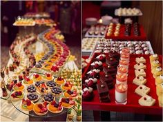 mini wedding dessert idea / http://www.deerpearlflowers.com/wedding-mini-desserts/
