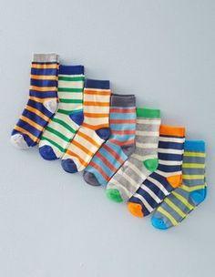 Multi Stripe 7 Pack Sock Box Boden