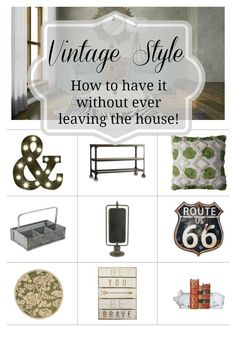 Vintage style can be