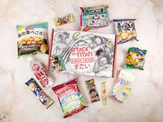 Japanese snacks and candies, sent to your door every month! Check out my Attack on Titan Japan Crate January 2018 review + coupon!   Japan Crate January 2018 Subscription Box Review + Coupon →  http://hellosubscription.com/2018/01/japan-crate-january-2018-subscription-box-review-coupon/ #JapanCrate  #subscriptionbox
