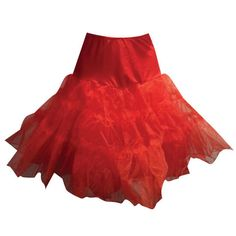 RED PINUP ROCKABILLY PETTICOAT SKIRT