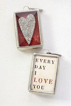 "Everyday Love by Jewel Kade - Extraordinary love finds it way into everyday life with this rhinestone heart charm.    1"" x 1.5"""
