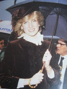 Princess Diana in Wales One of my favorite pictures of her. Image/Date Uncredited.