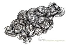 String Rose Tangle Pattern - VIDEO and time-lapse drawing