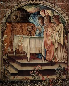 edward burns jones | achievment galahad the sang graal by Edward Burne Jones small 159x200