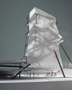 (c) Michael Wallraff Architekten Building Facade, Contemporary Architecture, Opera House, Concept Art, Urban, Commercial, Graphics, Design, Templates