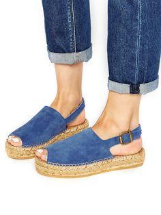 Park Lane Suede Flatform Espadrille Sandals