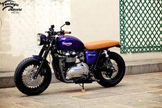 Triumph Bonneville By Vintage Racers    ♠ http://milchapitas-kustombikes.blogspot.com/ ♠